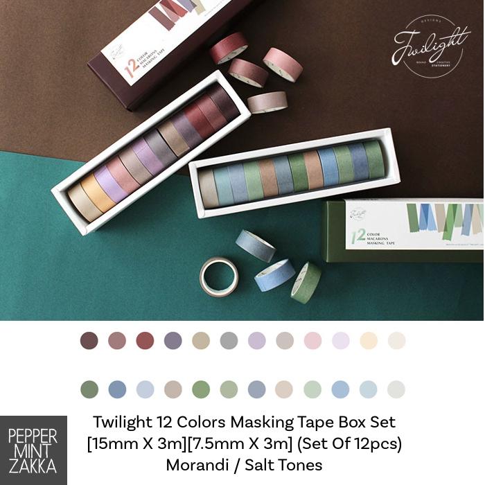 Twilight 12 Colors Masking Tape Box Set