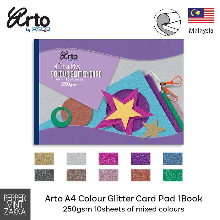 Arto A4 Colour Glitter Card Pad