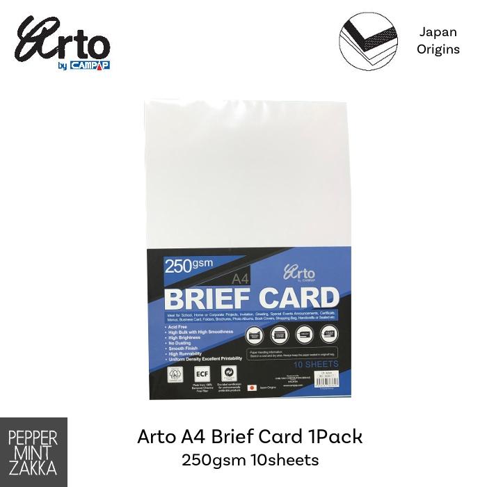 A4 Brief Card