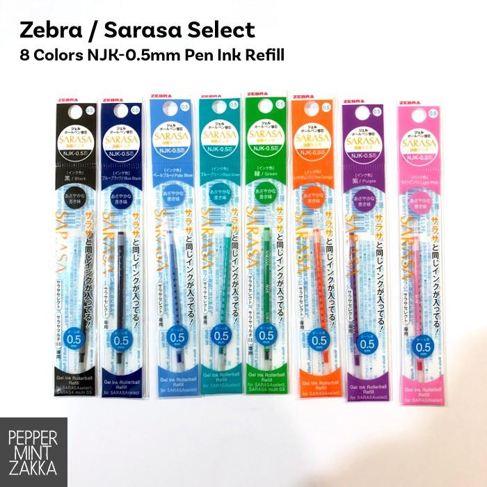 Sarasa Select 8 Colors NJK-0.5mm Pen Ink Refill