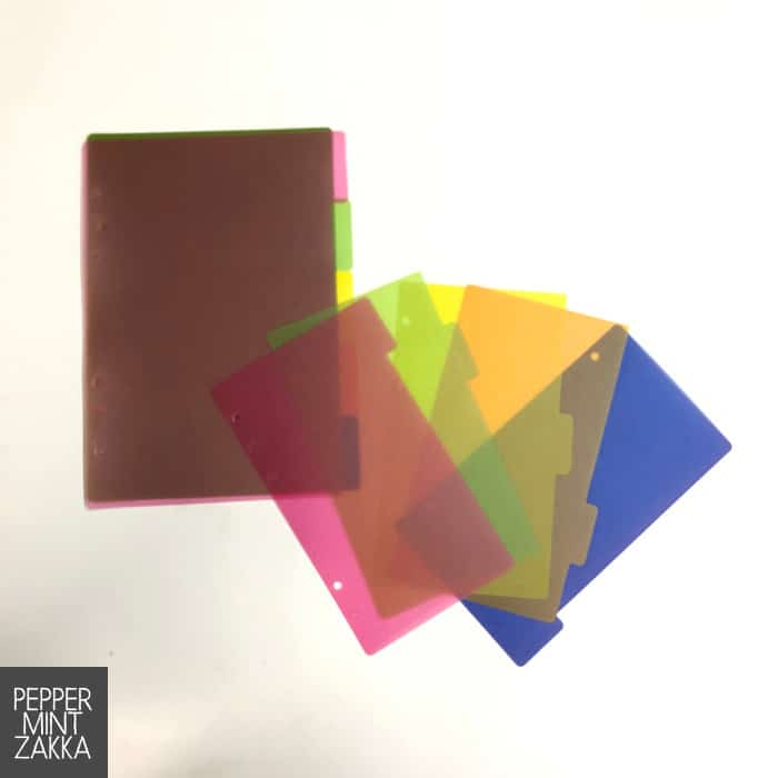 6-Ring Color PP Dividers