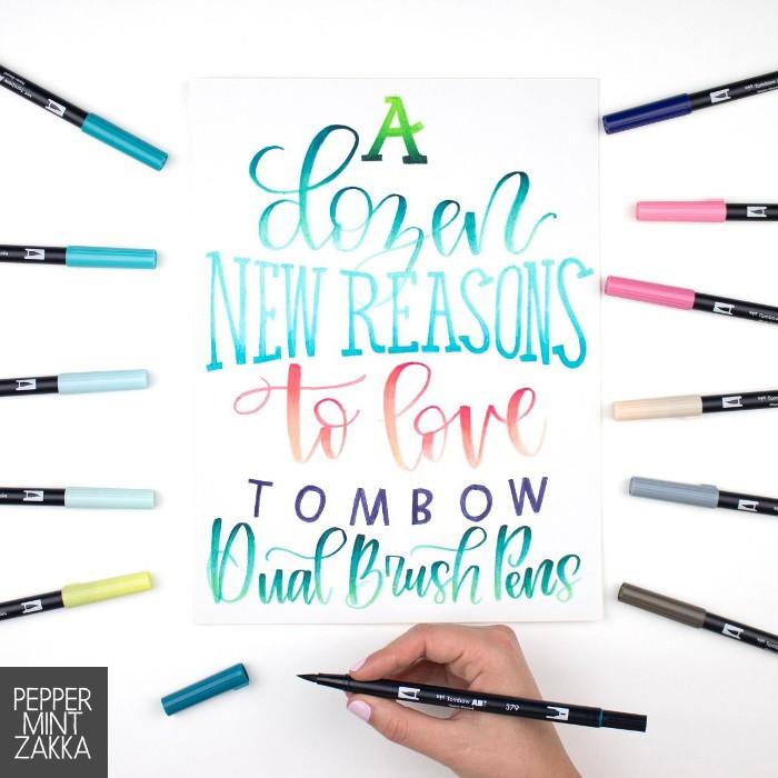 Tombow ABT New Dual Brush Pen - 12 Colors Bundle Set