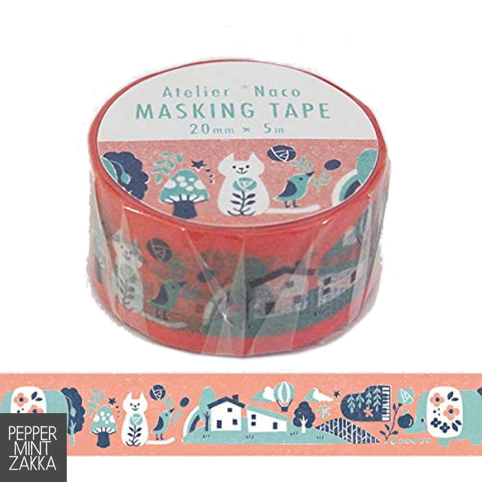 Kodomo no Kao x Atelier Naco Masking Tape Home and Animals 1699-001