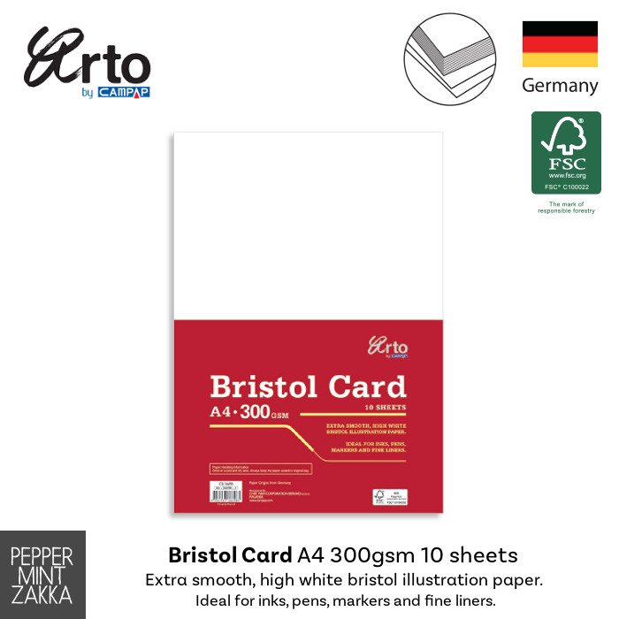 Arto A4 Bristol Card 300gsm 10 sheets