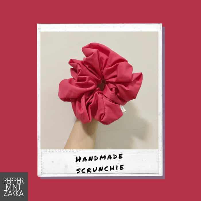 Lurveau Handmade Lux Scrunchie Crimson Red