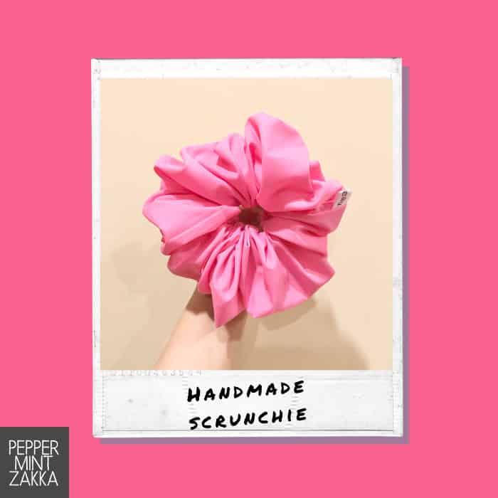 Lurveau Handmade Lux Scrunchie Bright Pink
