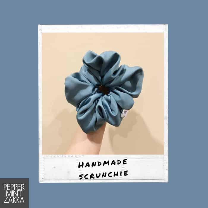 Lurveau Handmade Lux Scrunchie Steel Blue