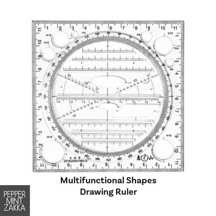 Multifunctional Shapes Drawing Ruler